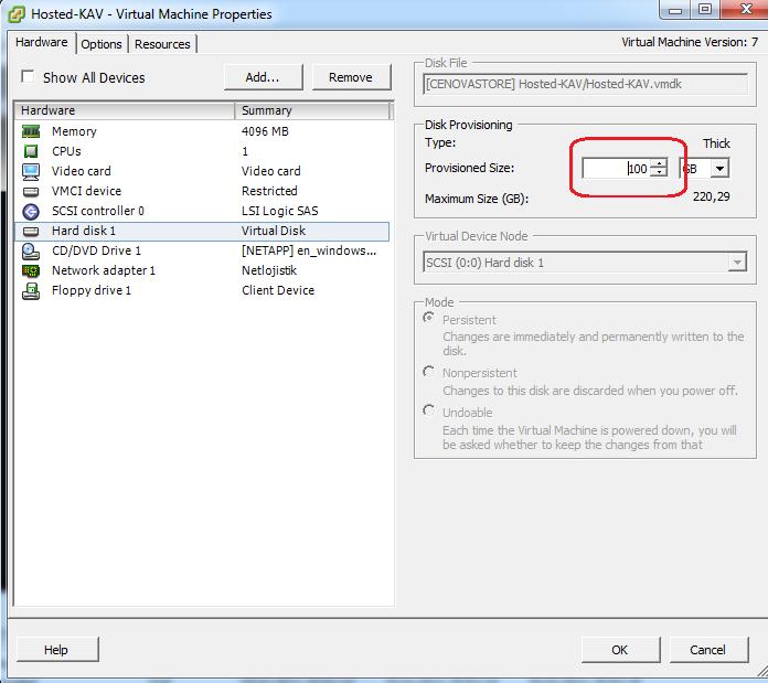 Vmware VSphere Client hesab�ndan sanal sunucunun disk alan�n� geni�letmek