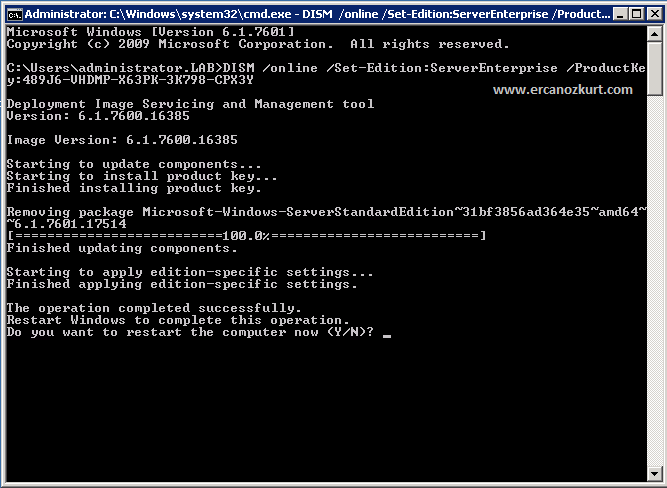 Windows Server 2008 R2 Enterprise. В том случае, если для активации.